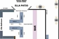 Ella Foyer and Patio Buffet floor plan
