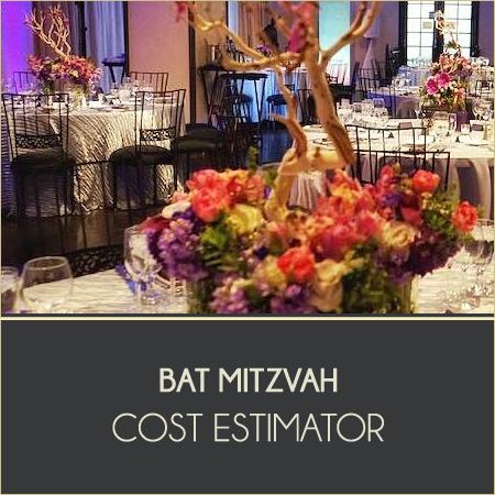 Bat Mitzvah Cost Estimator