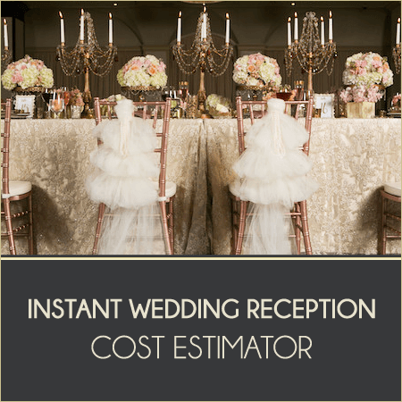Wedding Reception Cost Estimator