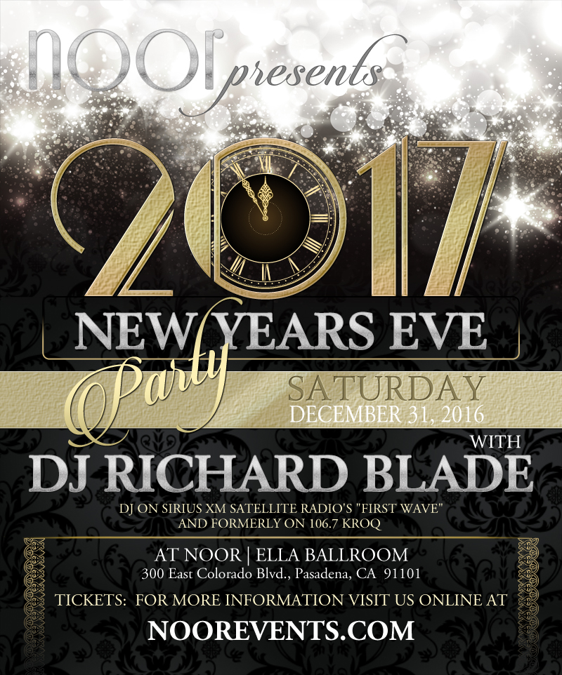 Noor s new years eve party 2017 with dj richard blade noor for Terrace new year party