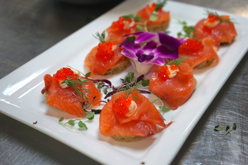 Noor-Smoked Salmon Blinis