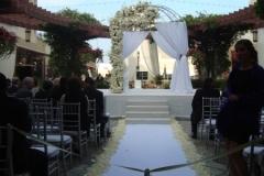 Noor Terrace-Wedding Ceremony 40 with Gazbo over Fountain