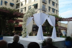 Noor Terrace-Wedding Ceremony 41 with Gazbo over Fountain