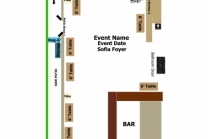 Sofia Foyer Silent Auction floor plan