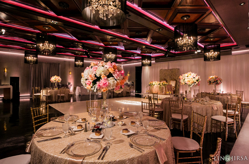 the ella banquet hall with wedding decor for sophia & austins wedding reception