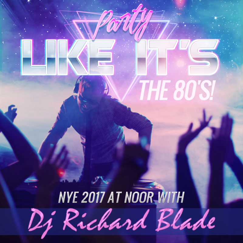 we were so excited to receive this personal message to our guests from dj richard blade inviting you all to party like its the 80s at noors new years