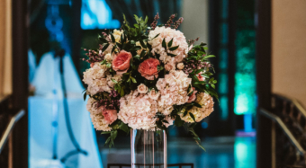 wedding flower arrangement inspiration at noor wedding show