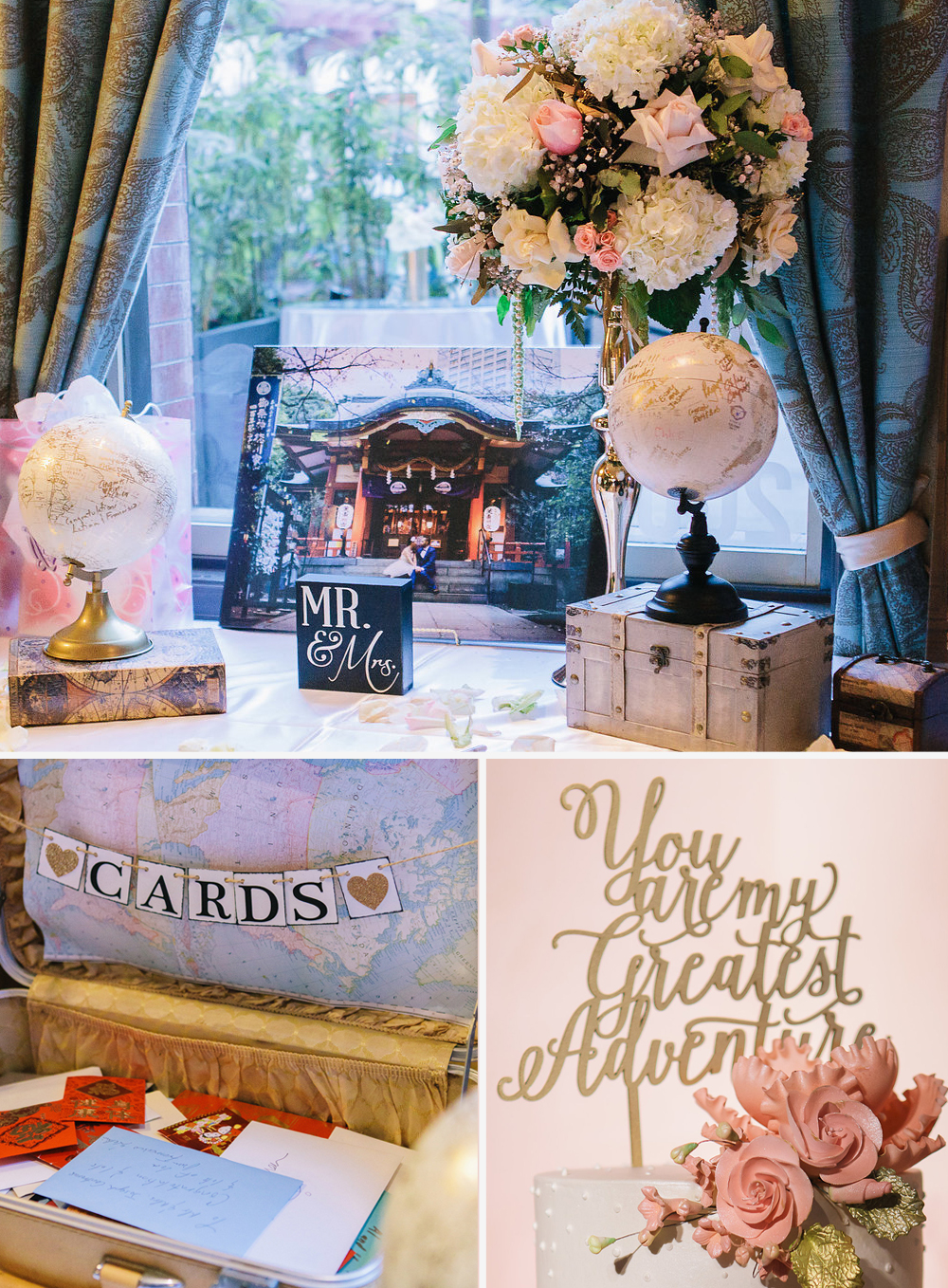 Travel Themed Wedding at Noor Pasadena