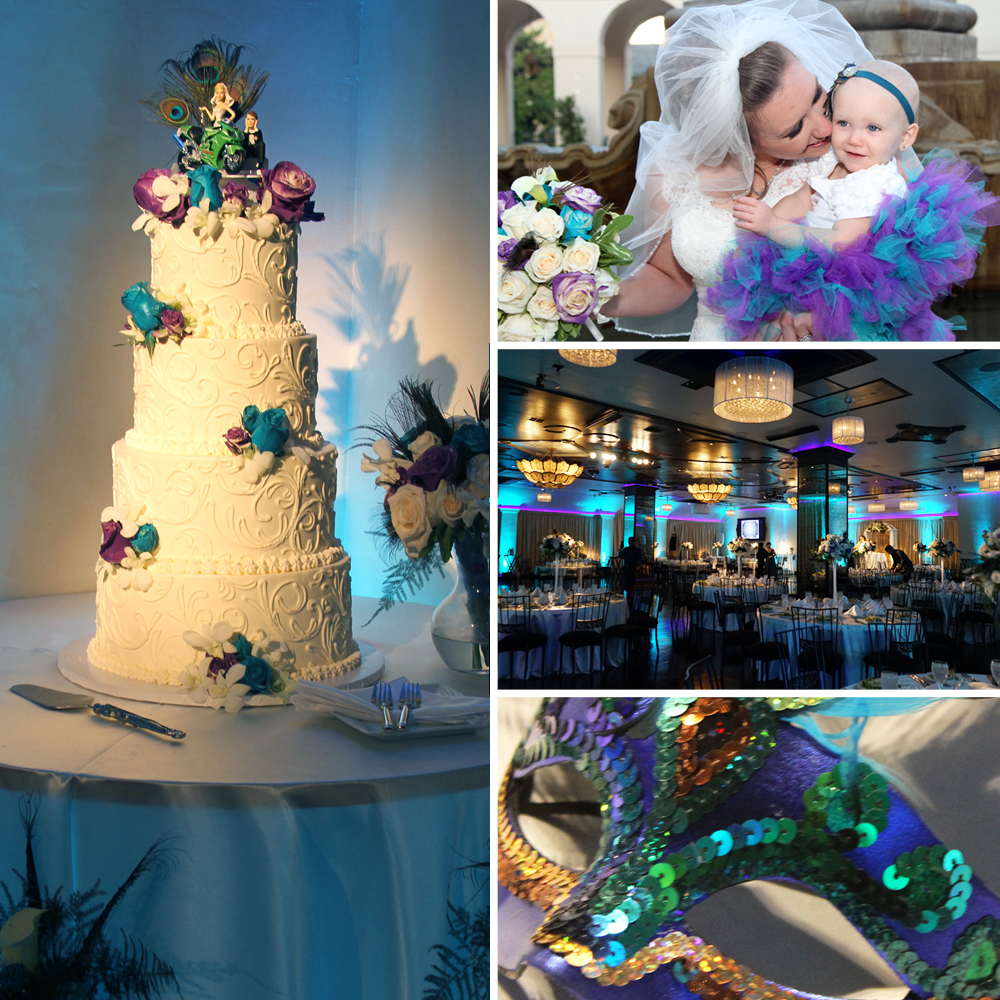 Rose Enrique S Beautiful Peacock Color Themed Wedding Noor