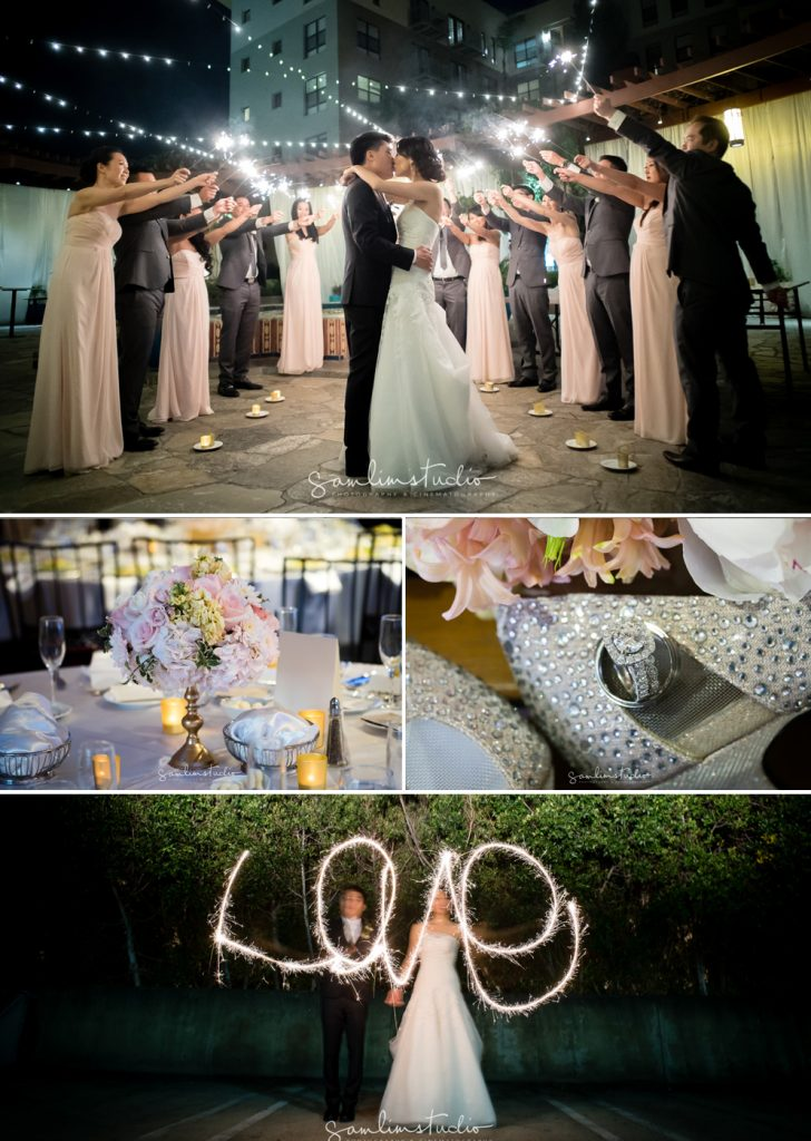 Jean Jerry S Wedding Was Full Of Blush Pink White And Gold Sparkling With Love Cute Artistic Touches Like Their Custom Designed Cartoon Characters