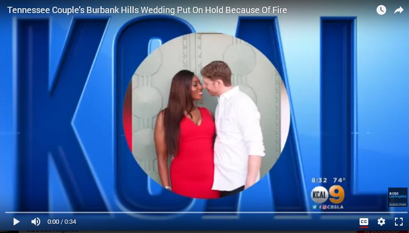 Noor On KCAL Channel 9 News - Last Minute Wedding For La Tuna Fire