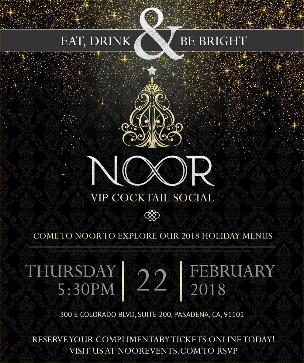 Holiday Party Menu Business Mixer Invitation Noor