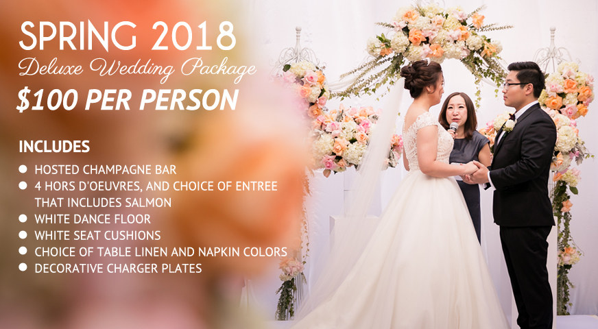 NOOR's Spring 2018 Deluxe Wedding Package