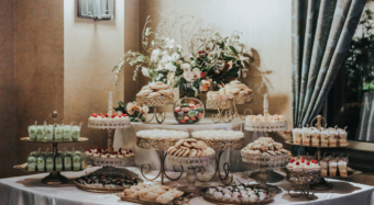 wedding dessert table setup sofia banquet hall los angeles