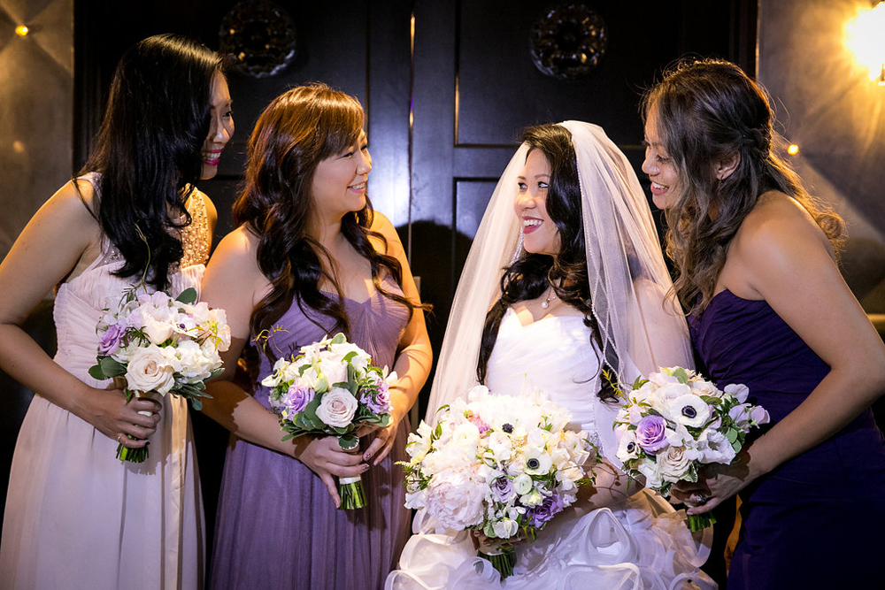 Los Angeles Wedding Bride and Bridesmaids