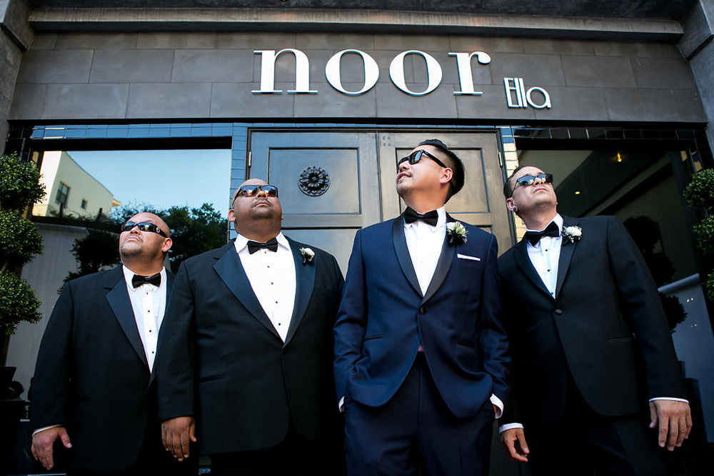 Los Angeles Wedding Groom and Groomsmen