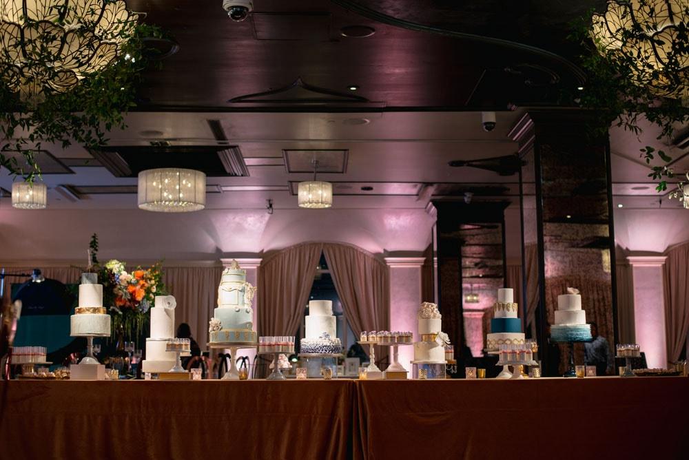 Wedding Show Wedding Cakes Display Table