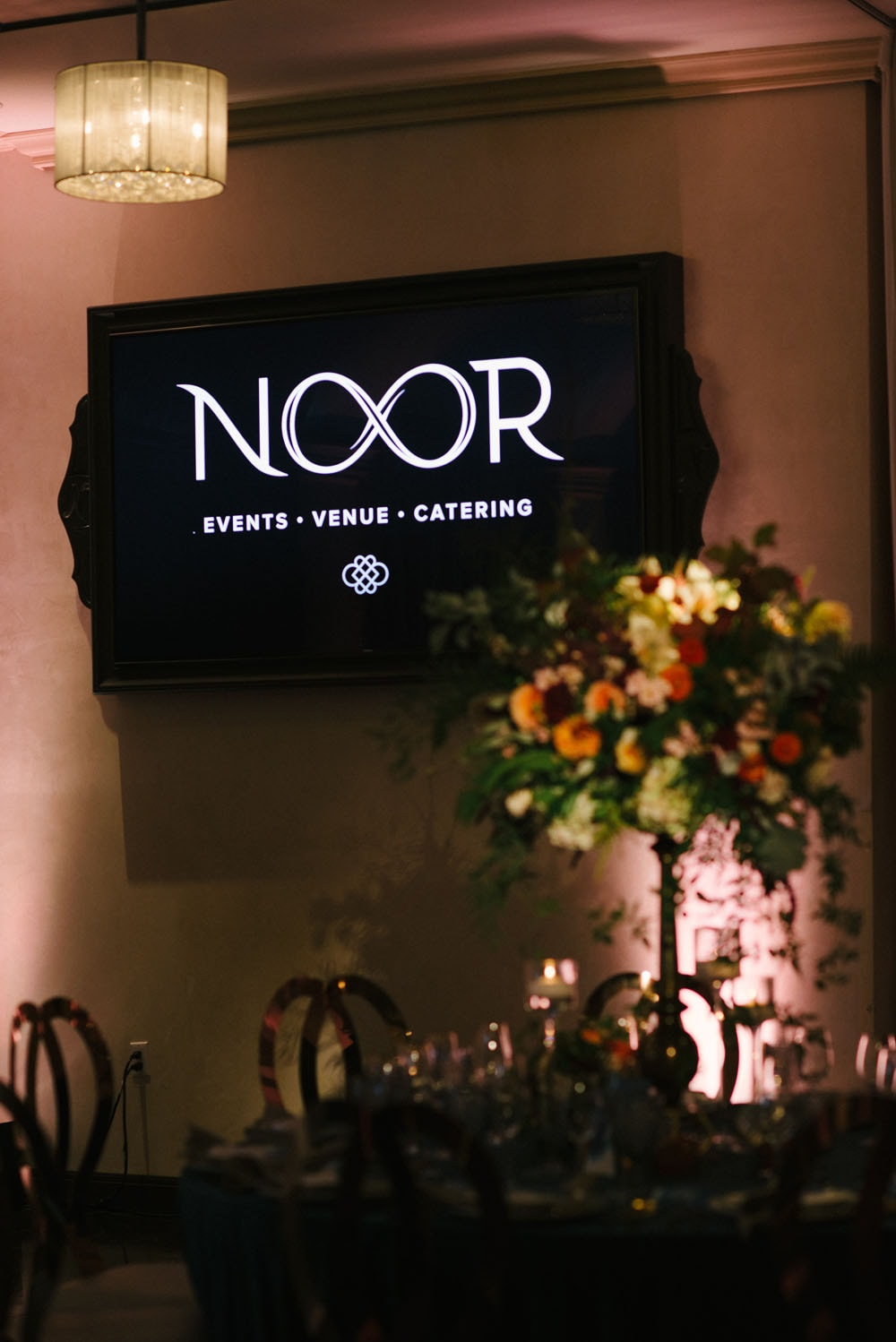 Wedding Show Screen Showing NOOR Pasadena Logo