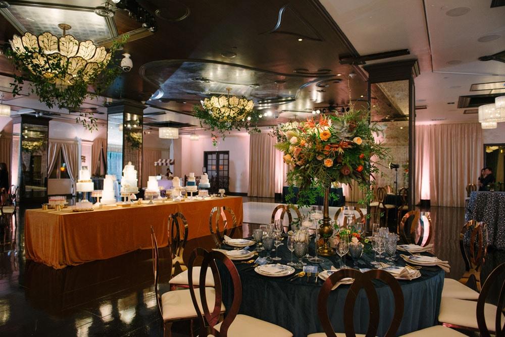 Wedding Show Sofia Ballroom Wedding Cakes and Floral Arrangements