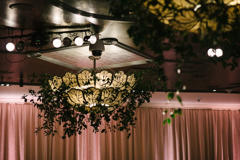 Wedding Show Chandelier with Greenery