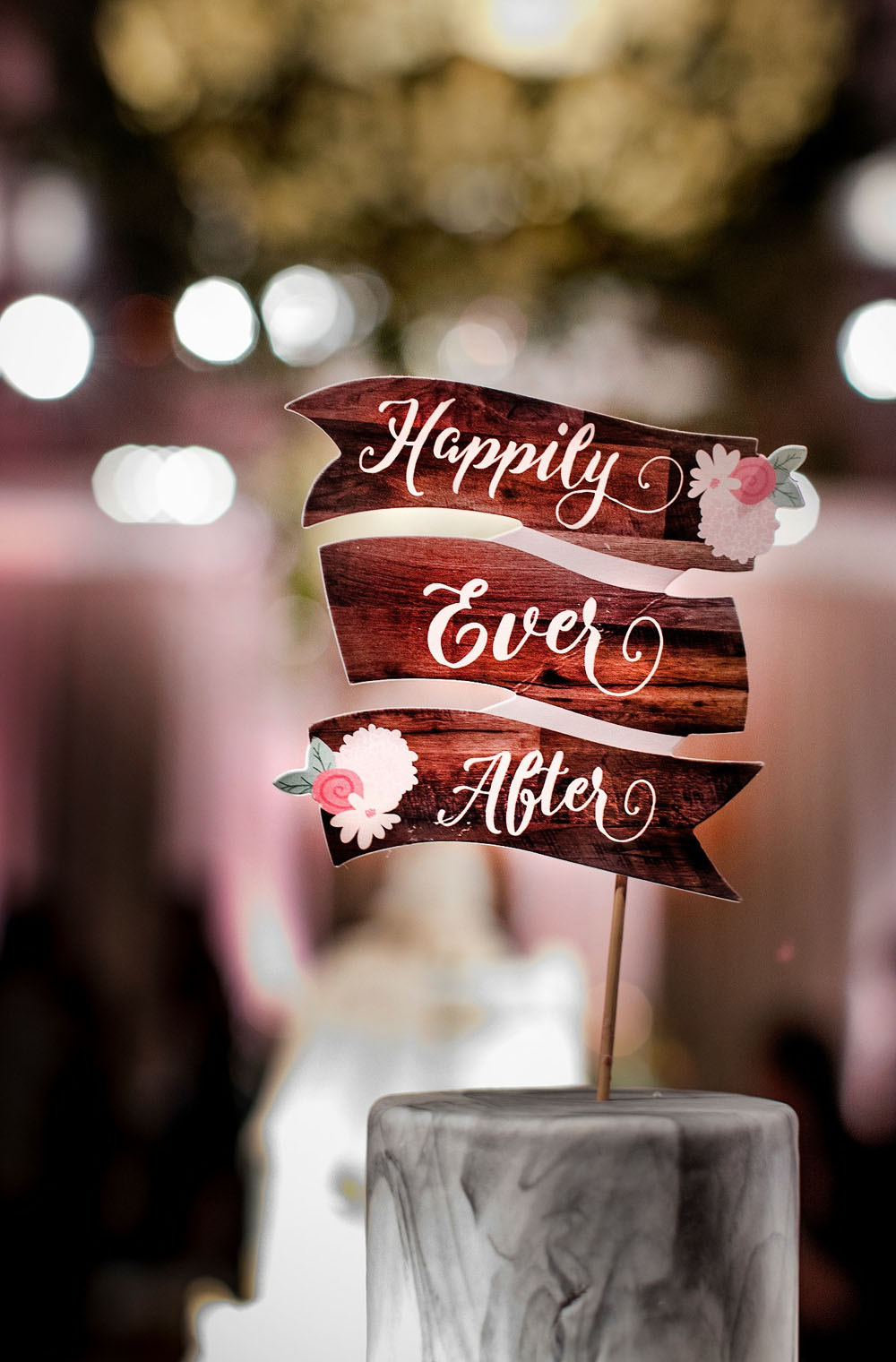 Wedding Show Wedding Cake Happily Ever After Cake Topper
