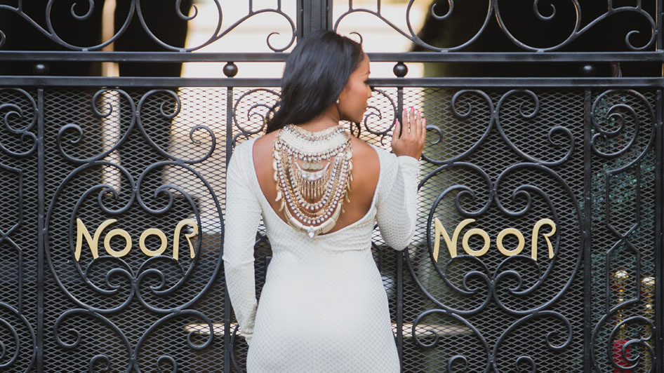 Los Angeles Wedding Show Bride at NOOR Banquet Hall Gates
