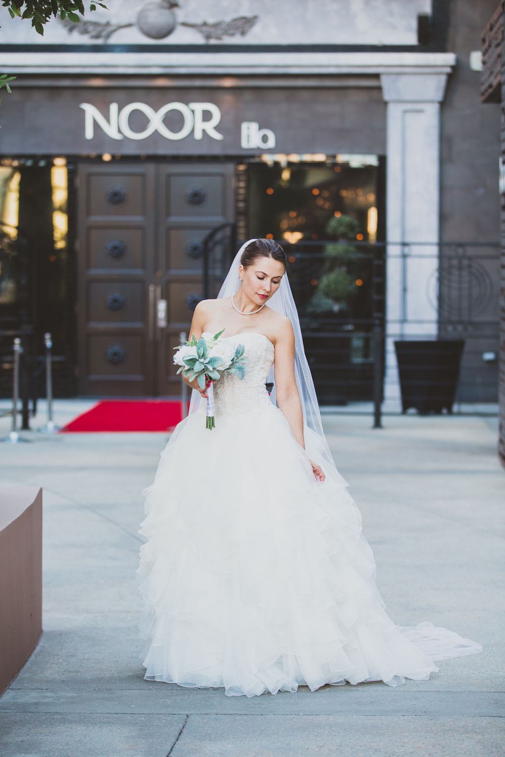 Bride at Los Angeles Wedding Venue NOOR