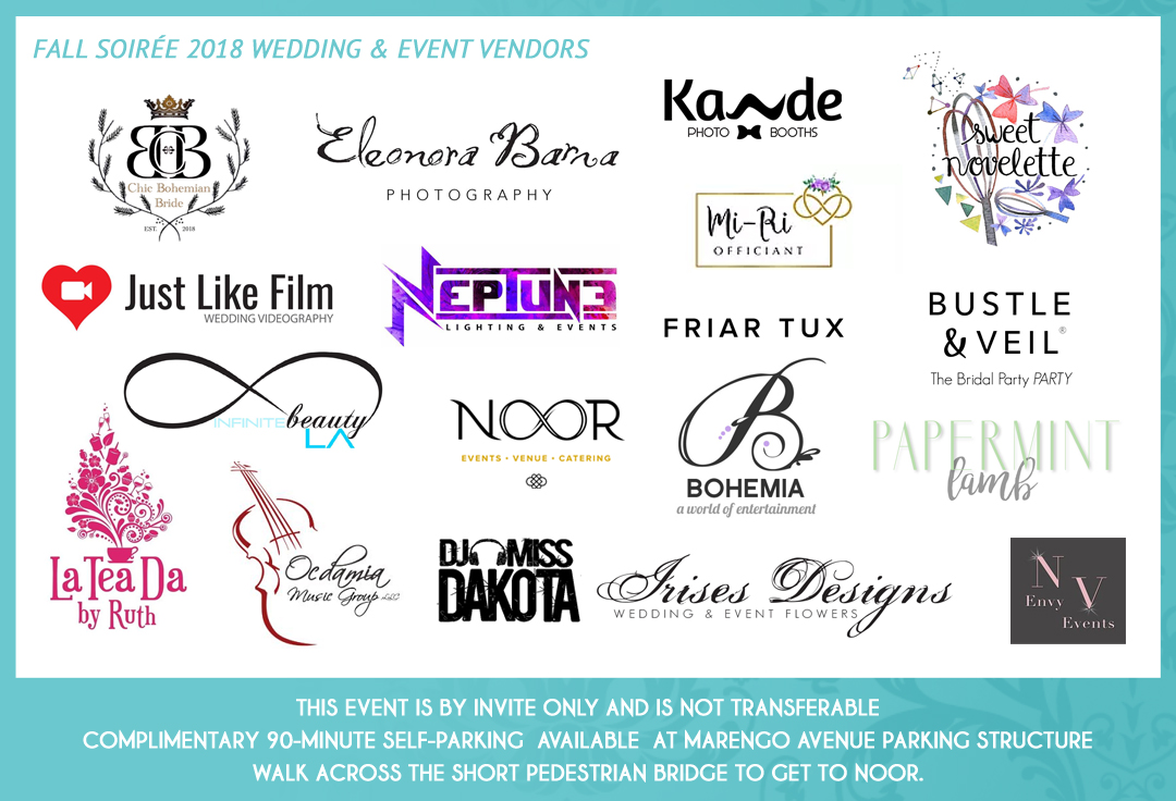 Los Angeles Wedding Show Vendor Logos