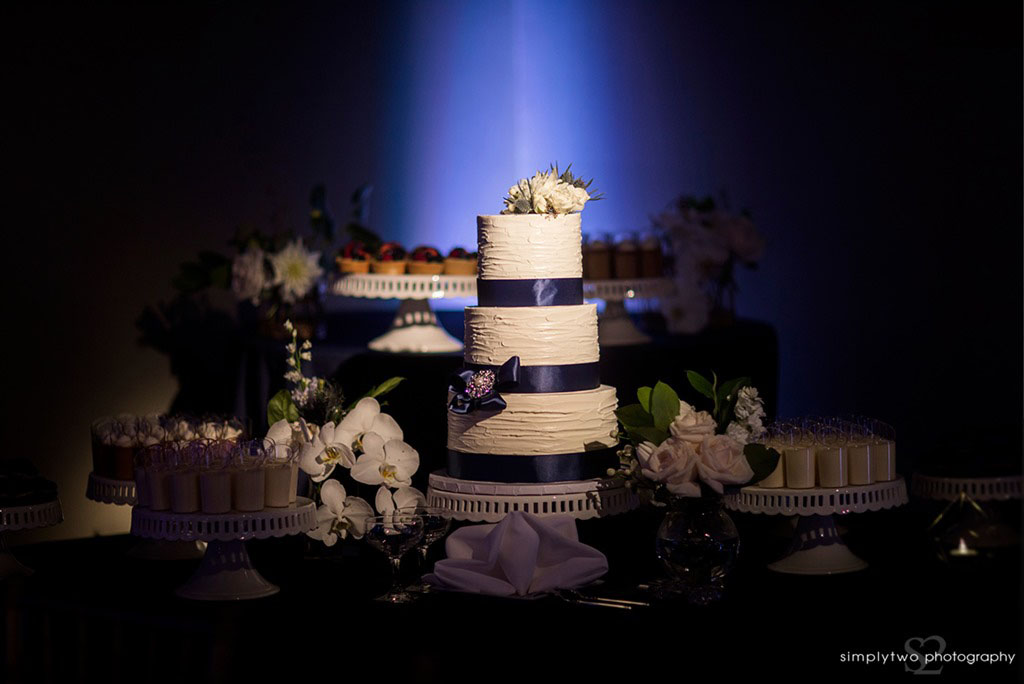noor wedding pasadena wedding reception dessert table