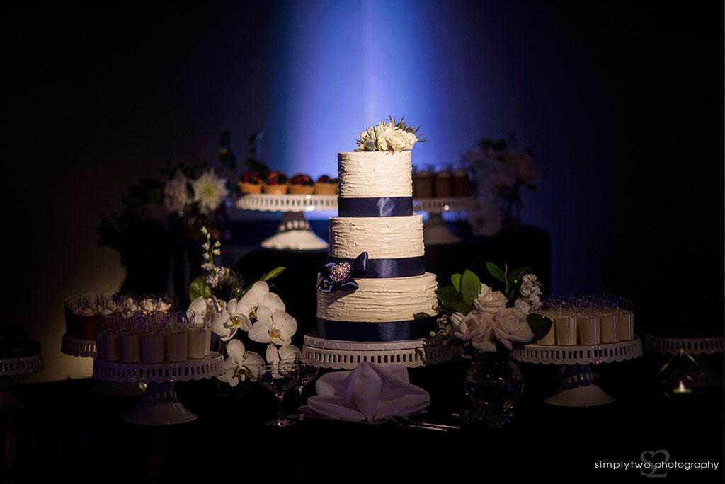 noor wedding pasadena wedding reception dessert table