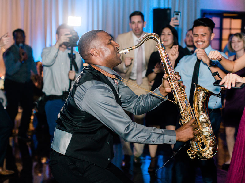 saxaphone live music los angeles wedding