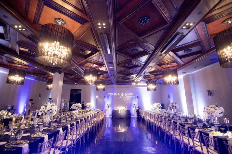 noor wedding reception pasadena ella ballroom table setup