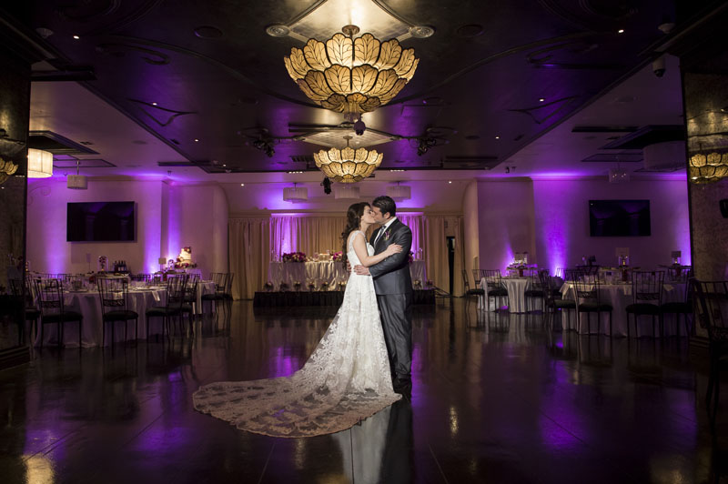 bride and groom at NOOR sofia ballroom and banquet hall