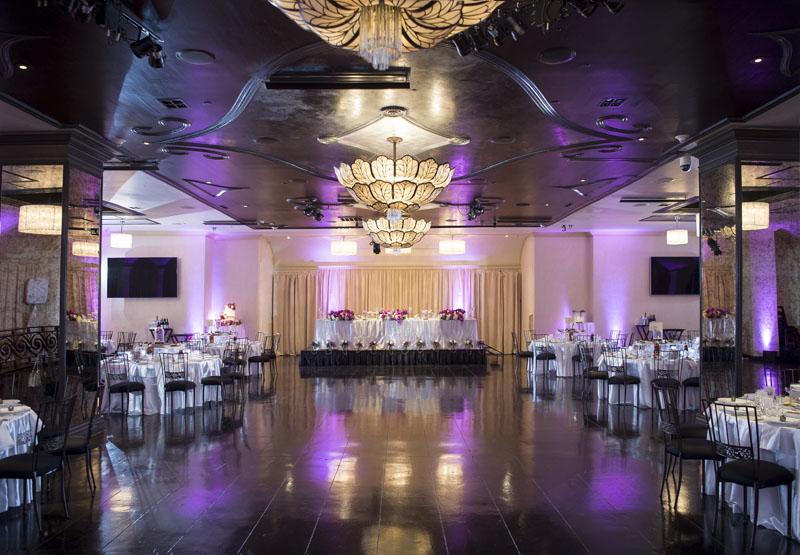 sofia ballroom at NOOR pasadena wedding reception setup