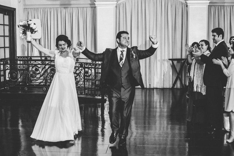 bride and groom grand entrance NOOR sofia ballroom banquet hall los angeles