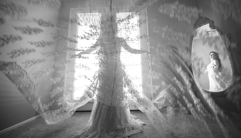 beautiful wedding dress photography at NOOR Los Angeles