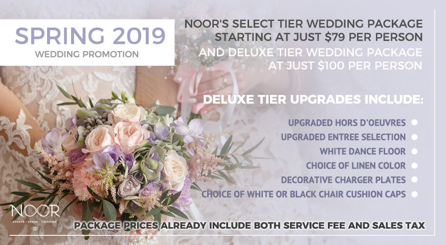 wedding package promotion at noor pasadena