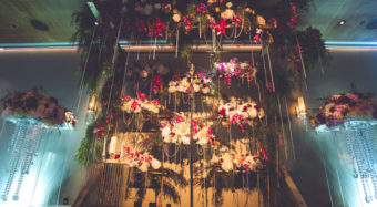 vertical garden wedding backdrop
