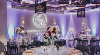 wedding reception setup in the ella ballroom at noor los angeles