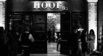 entrance and patio of the ella banquet hall at noor los angeles