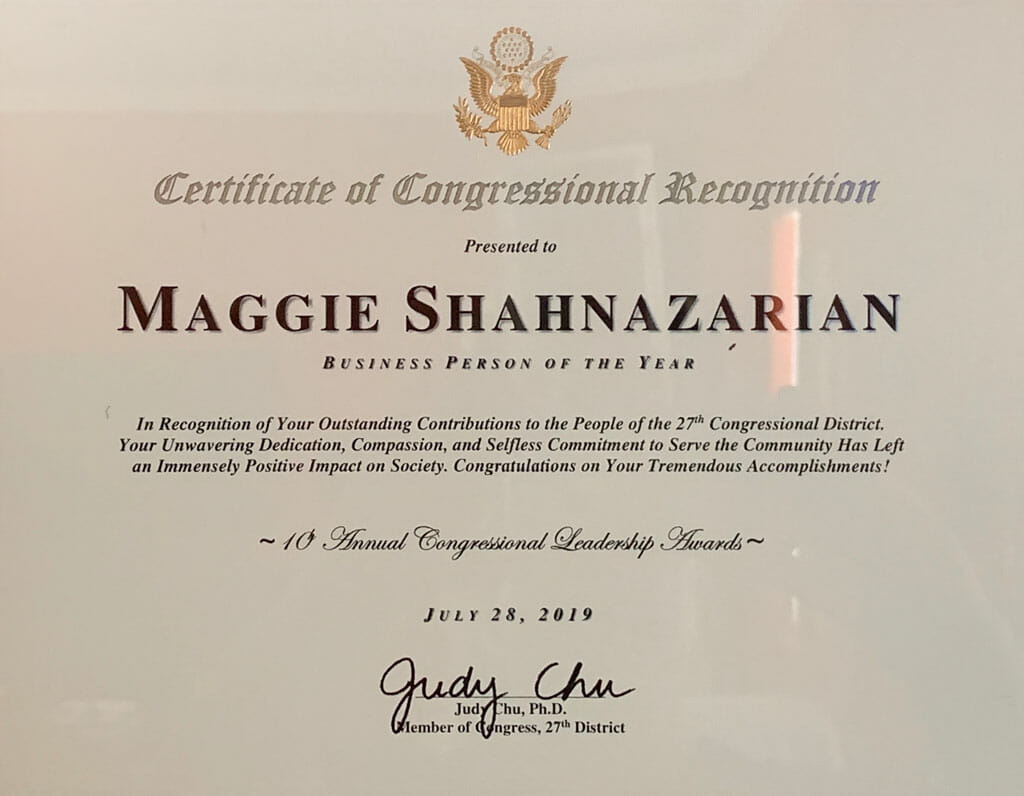 maggie shahazarian business person of the year award