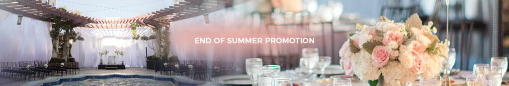 end of summer wedding promotion for friday and sunday events