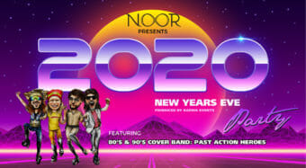 new year's eve 2020 at noor los angeles with 80s cover band past action heroes