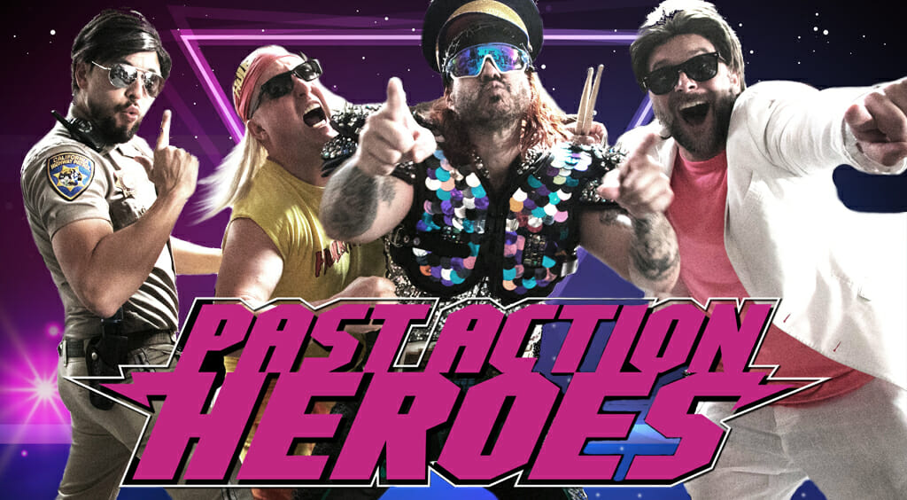 all the fun rolled into one 80s and 90s cover band past action heroes
