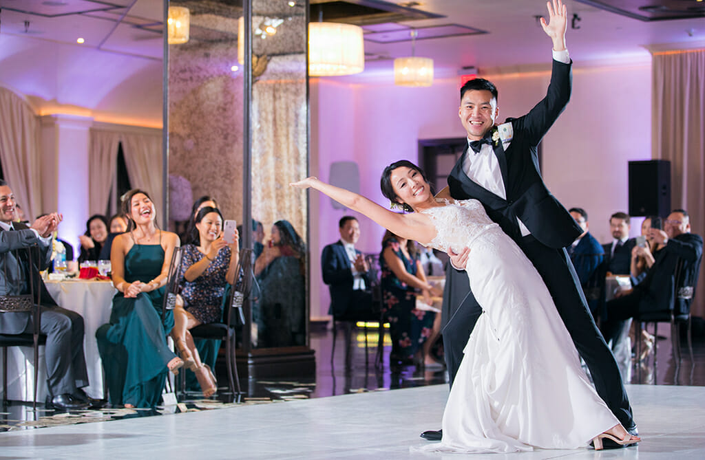 NOOR pasadena bride and groom dancing in the sofia banquet hall