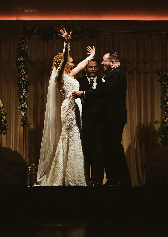 beautifuk wedding ceremony at NOOR Sofia Banquet Hall in pasadena