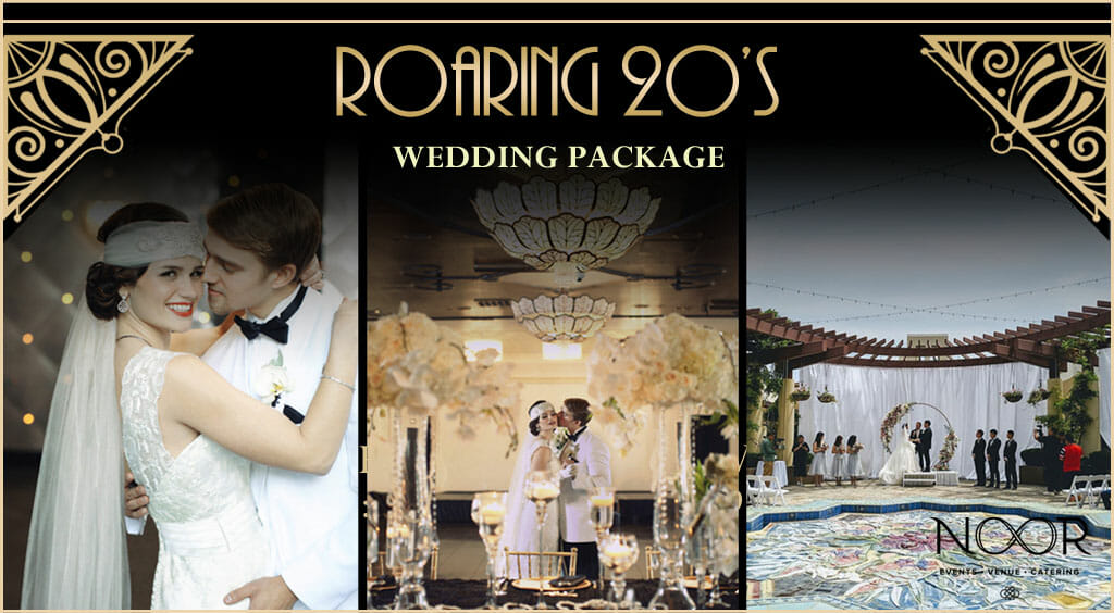 roaring 20s wedding promotion at noor banquet halls