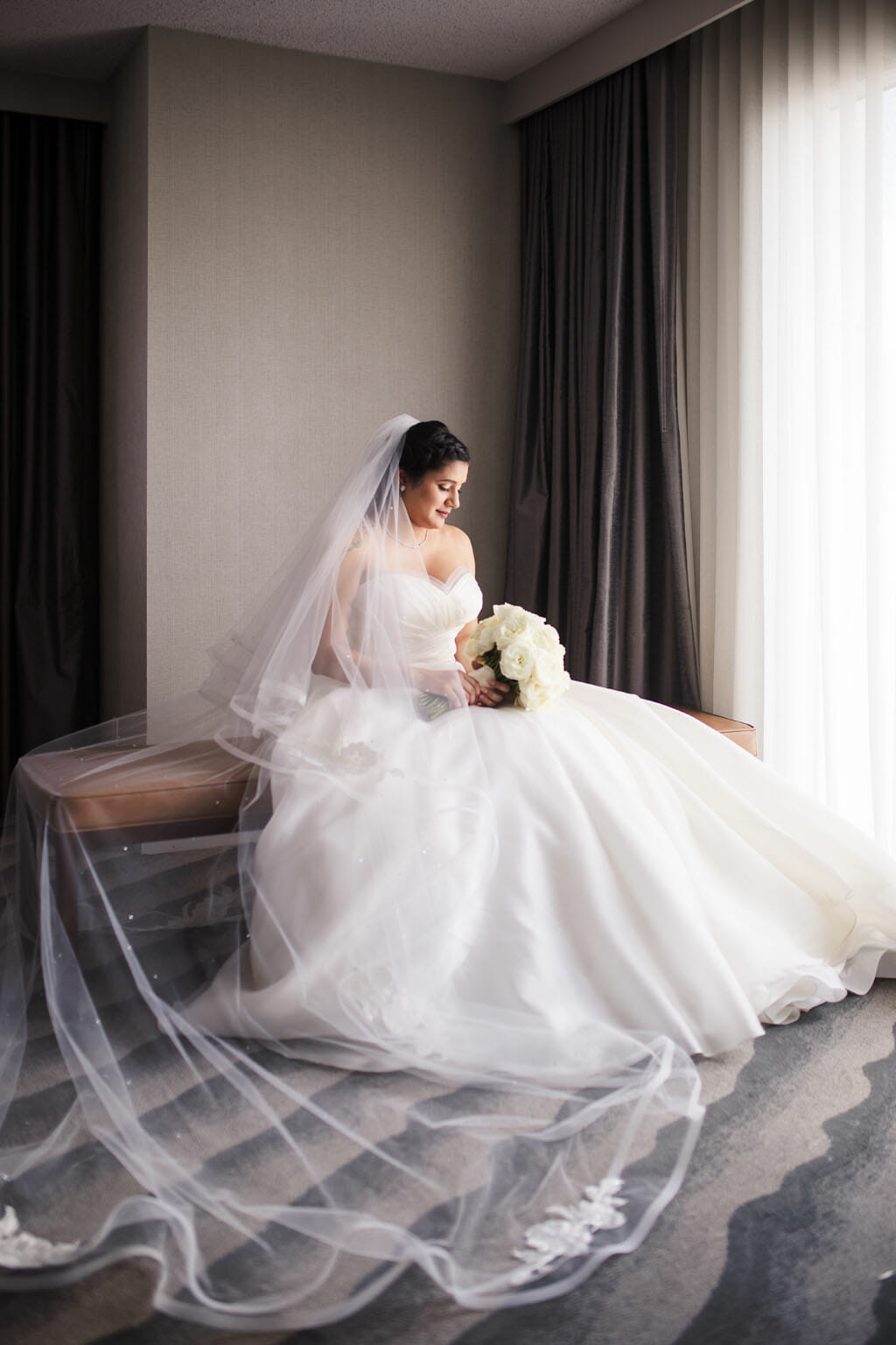 A moment of reflection and a beautiful portrait of our bride by Lin & Jirsa