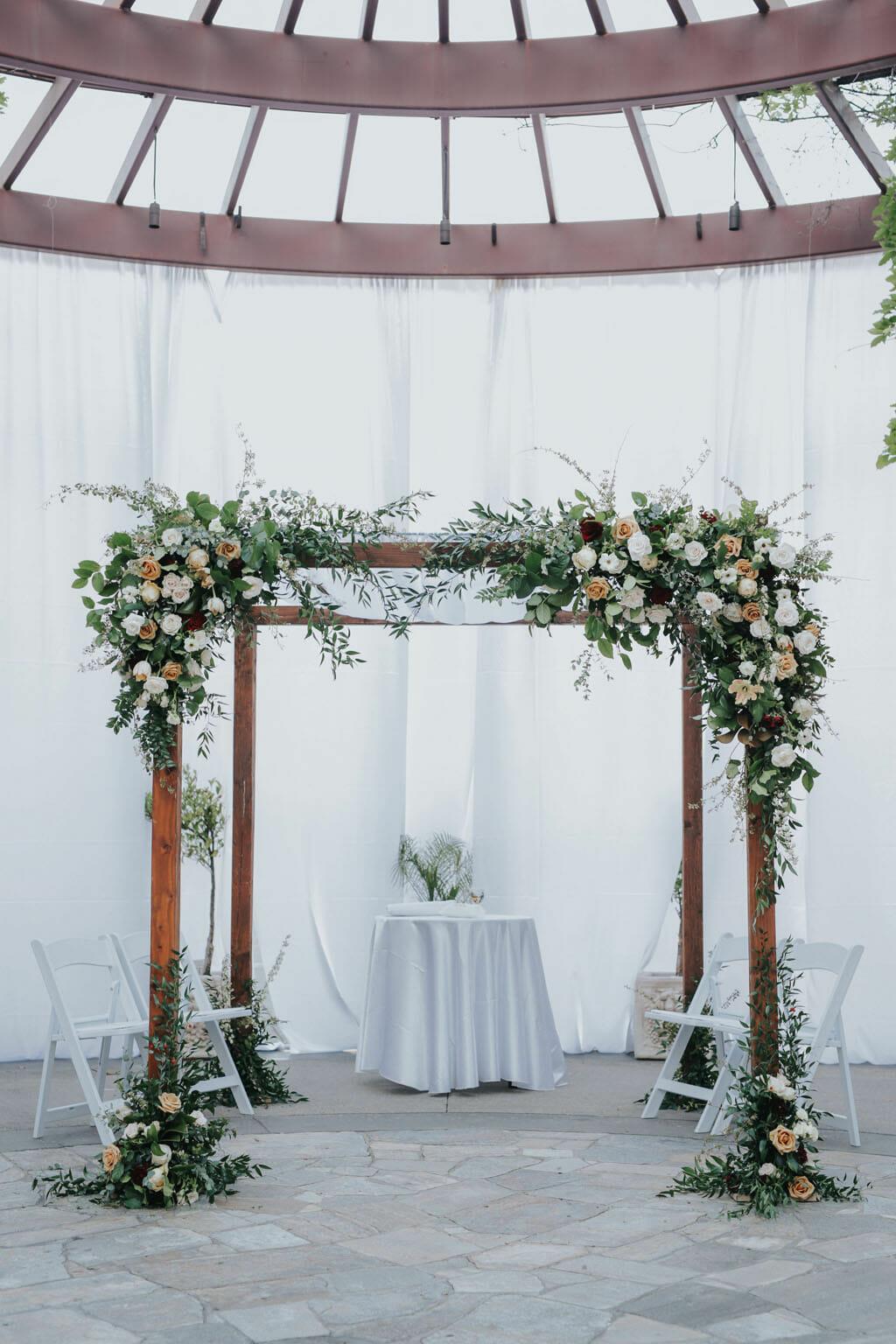 floral wedding arch for jewish wedding