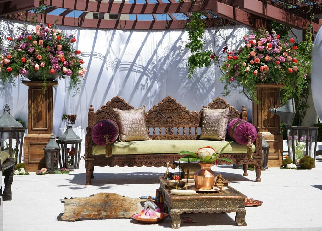beautiful outdoor indian wedding ceremony
